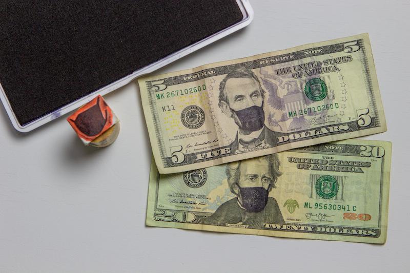 First stamped cash.